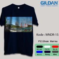 Kaos Gildan Softstyle - Wonderful Indonesia, Panorama Alam Indonesia