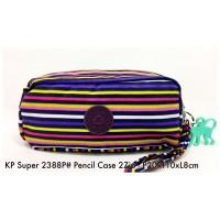 Dompet Import Kipling Pencil case 2Zip 2388P 24