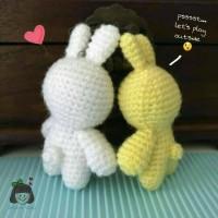 Jual Baby Bunny Gantungan Kunci Bag Charm Amigurumi Key Chain Boneka Rajut Murah