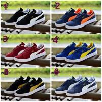 Sepatu Sneakers Pria Puma Skate Casual Kets Kuliah GRATIS 1KAOS KAKI