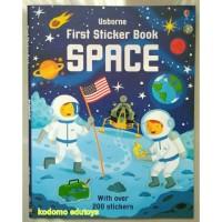 Usborne First Sticker Book - Space,Buku Import Aktifitas Anak