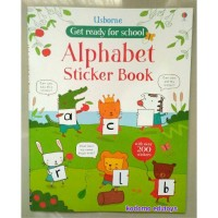 Harga usborne get ready for school alphabet sticker book buku import | antitipu.com