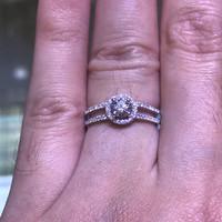 cincin berlian eropa GIA solitaire emas putih rangka hongkong terbaik