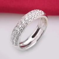 Cincin Berlian Silver Lapis Emas (Perhiasan Imitasi Wanita) - BR075