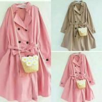Jual long coat fashion korea muslim Murah