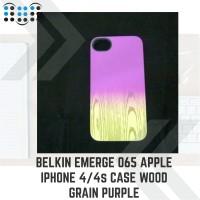 Belkin Emerge 065 Apple iPhone 4/4s/4g Case Wood Grain Purple