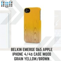 Belkin Emerge 065 Apple iPhone 4/4s/4G Case Wood Grain Yellow/Brown