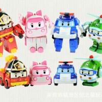 Robocar POLI set isi 4   Transformable Robot MURAH