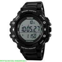 SKMEI Casio Jam Tangan Sport Pria DIGITAL PEDOMETER DG1128S Black H515