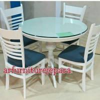 Kursi Meja Jeruji Makan Set Duco Furniture Jepara Cafe
