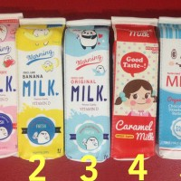Jual kotak tempat pensil unik morning milk pencil case milk bos kotak susu Murah