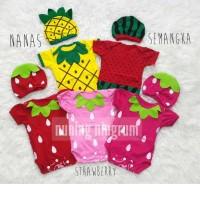 Jual Jumper Baby Costume Kostum Bayi Buah Set Topi Lucu Murah