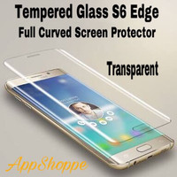 Tempered Glass Samsung Galaxy S6 Edge Full Cover TRANSPARENT BENING