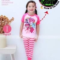 Harga baju tidur piyama setelan impor gw anak cewek perempuan little | antitipu.com