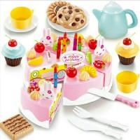 mainan anak perempuan diy cake party birthday SNI isi 54pcs kue ultah