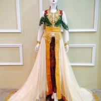 Kebaya Pengantin Ekor Panjang Cantik Elegan Muslim Murah Terbaru Keren