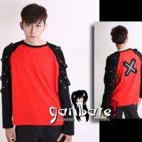 Punk Red Long Sleeve Shirt