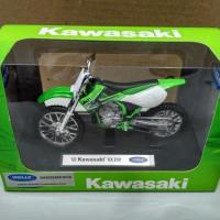 diecast welly motor trail kawasaki kx 250 1/18