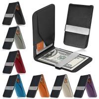 Dompet Money Clip Man wallet Leather Penjepit Uang