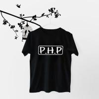Jual Tumblr Tee / T-Shirt / Kaos Wanita Lengan Pendek PHP Warna Hitam Murah