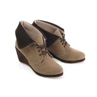 Sepatu Wanita Wedges Boot Coklat Bertali - BK48