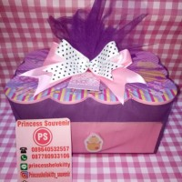 hampers souvenir goodie bag tissue wooden laci one month ulang tahun