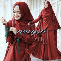 gamis maxi elsa baju pesta muslim pakaian hijab islami Limited