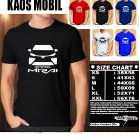 KAOS OTOMOTIF MOBIL TOYOTA MIRAI SILUET TD/Baju Tshirt Balap