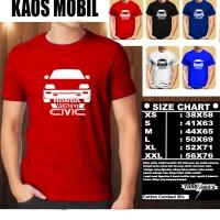 KAOS OTOMOTIF MOBIL HONDA CIVIC WONDER SILUET TD/Baju Mobil Balap