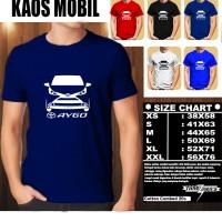 KAOS OTOMOTIF MOBIL TOYOTA AYGO SILUET TD/Baju Mobil Tshirt Balap