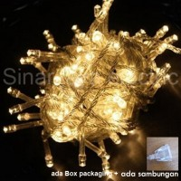 Jual lampu led natal dekorasi , led twinkle light , led string WARM WHITE  Murah