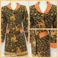 Jual Seragam Blazer Wanita Kantor Batik Motif Bunga Murah