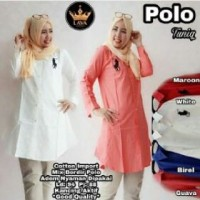 E09 H Polo Tunik Bahan Katun Paris Size L Tn(blouse,atasan,muslim,hija