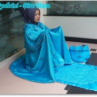 jual mukena dewasa ponco syahrini biru toska (mukena tanpa kepala) hot