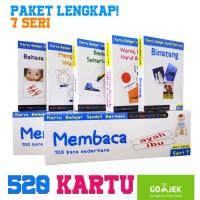 FlashCard Paket LENGKAP 520 Kartu - Indonesia, Inggris (Kartu Bayi)