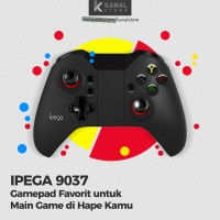 Stik Gamepad Wireless IPEGA 9037 for Android, iOs, Game PC, & VR Box