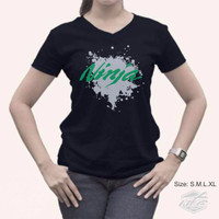 Jual Limited Edition Kaos Logo Kawasaki Ninja Cewek Warna Hitam fast Murah