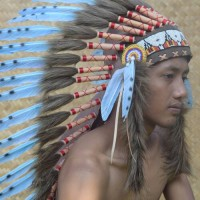 (medium goose feather) topi indian, indian headdress turquish