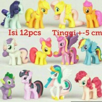 Jual 12 pcs/set My Little Pony mainan - hiasan kue - topper MY LITTLE PONY Murah