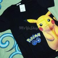 Jual Baju kaos pria lengan pendek Pokemon Go Pikachu Hitam - KPKCH Murah
