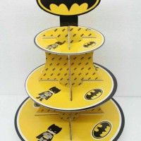cupcake stand batman kids / cupcake stand 3 tier batman party stock