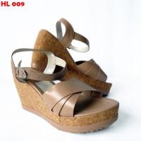 Sandal Wedges Wanita Kualitas Super sol karet Harga Grosir tinggi 8cm
