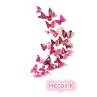 3D Butterfly Wall Sticker - Stiker dinding kupu-kupu 3D dgn magnet