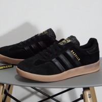 Sepatu Adidas Gazelle OG Classic 2 Indoor Black Rubber Gum Brown Hitam