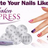 Salon Express As Seen On TV Nail Art Stamping Kit