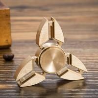 Jual Spinner Metal Aluminium NINJA TOP BRASS METAL HAND FIDGET 3 SPINER Murah