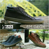Sepatu Casual Semi Boots Blackmaster Geox Pria