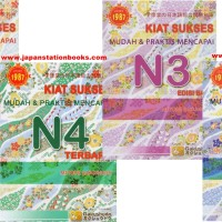 Buku Bahasa Jepang Kiat Sukses Mudah N5 N4 N3 N2 - Paket 4 Buku