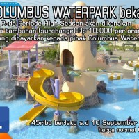 COLUMBUS WATERPARK bekasi / kolam renang (etiket)