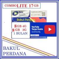 Kartu Sakti Perdana Internet XL COMBO LITE 17GB FREE PULSA YOUTUBE